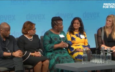 Queen Dube talks about getting to the last mile for newborn care at Devex