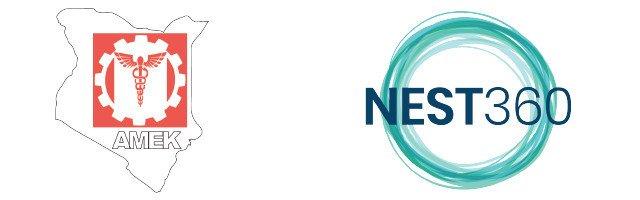 The AMEK and NEST360 logo